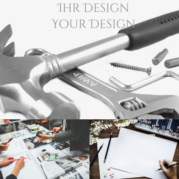 Bearbeitungsgebühr für 1 individuelles Motiv/Design Möbelknopf